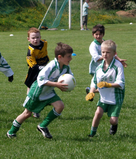 Action from the under 8 blitz in Letterkenny.