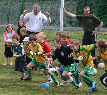 Action from under 8 training in P�irc Aoidh Ruaidh.