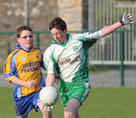 Action from the under 16 challenge between Aodh Ruadh and Glencar Manorhamilton.