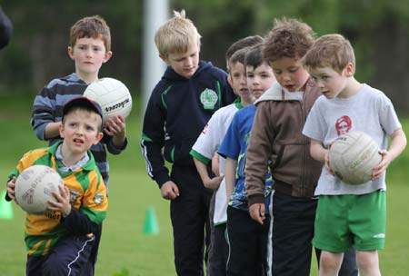 Action from the under 8 training.