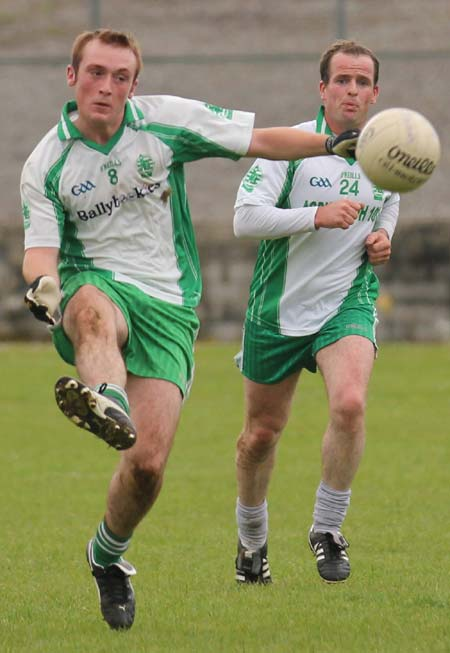 Action from the league match against Carndonagh.