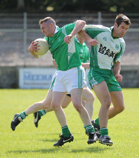 Action from the division 3 reserve league match against Naomh Mhuire.
