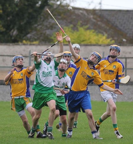 Action from the Aodh Ruadh v Burt game.