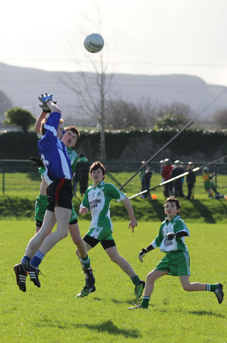 Action from the under 16 league game against Four Masters.