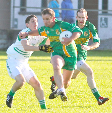 Action from the division three senior football league match against Saint Naul's.