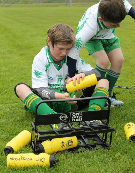 Action from the under 10 hurling blitz in Donegal town.
