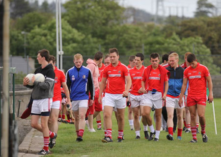 Action from the challenge game against Coolera Strandhill.