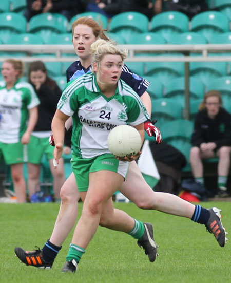 Action from the intermediate ladies final between Aodh Ruadh and Milford.