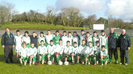 The Aodh Ruadh team which defeated Termon in the under 13 county semi-final.