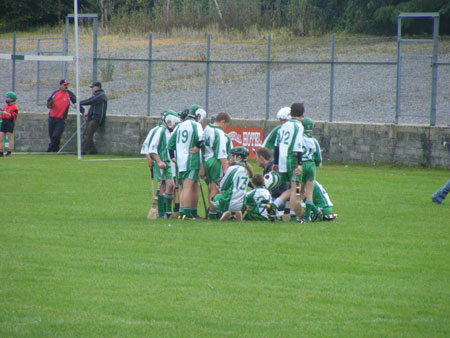 Peter Horan getting his team in a huddle.