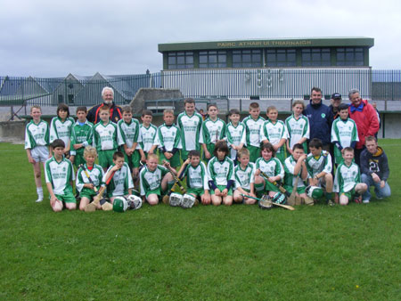 The Aodh Ruadh under 12 teams took part in Aodh O Dalaigh with John Crossey, Ulster Council Coach for Donegal, Tom Daly, Ulster Council President and Billy Finn, Conor Carney and Peter Horan.