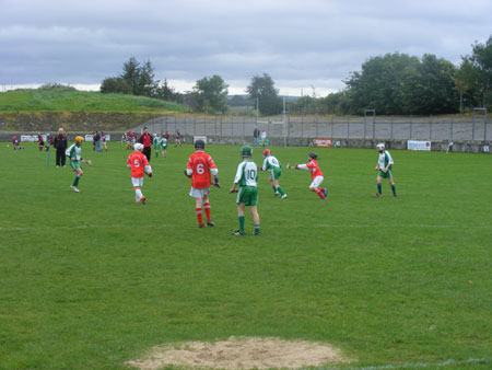 Midfield action from Aodh Ruadh v Coolera Strandhill.