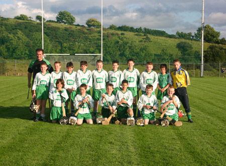 Aodh Ruadh under 12s with manager Peter Horan and selector, John Rooney.