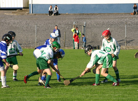The midfield battle between Aodh Ruadh and Four Masters.