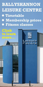 Ballyshannon Leisure Centre information.