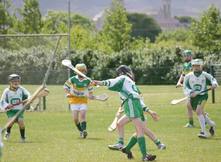 Action from Aodh Ruadh v Buncrana match.