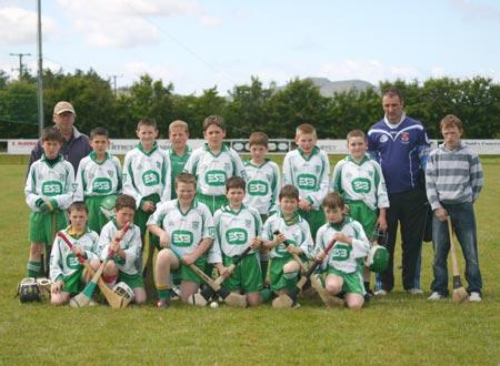 Under 12s who took part in the blitz in Cardonagh along with manager Peter Horan and mentors Billy Finn and John Rooney.