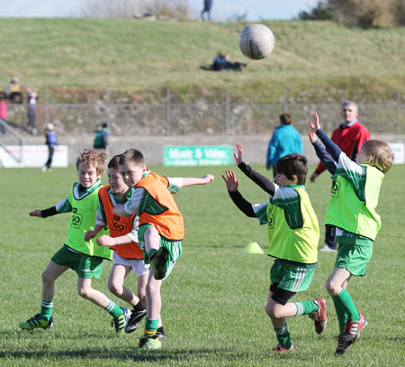 Action from the minigames at half time between Donegal and Mayo.