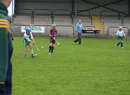 Tommy Gillespie clears the ball for Aodh Ruadh.