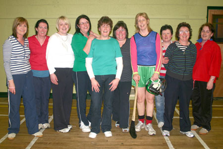 The glamour girls who proved they were great sports by taking part in the Hurl-A-Thon.
