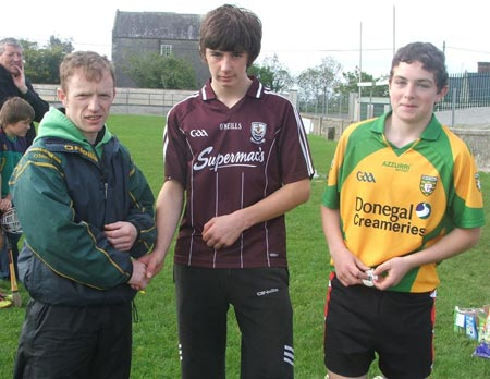 Third in the under 14 skills, Oisín Rooney and Eugene Drummond.