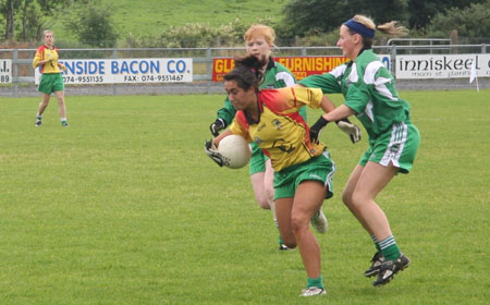 Action from the Ladies Intermediate Final.